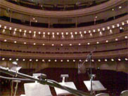 My view from the stage in Carnegie Hall during soundcheck for a Liam Lawton concert in New York 2005